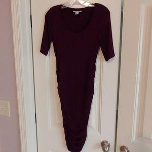 Motherhood Maternity plum dress